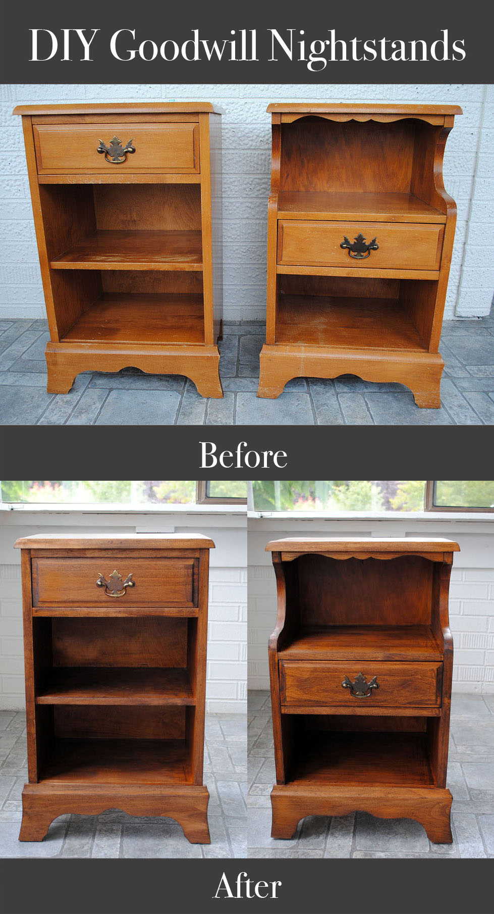 Diy Goodwill Nightstands Easy Craft And Sew